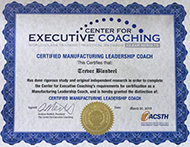 Certified Manufacturing Leadership Coach Diploma