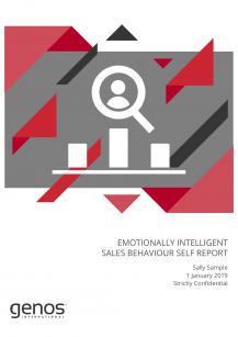 EI Sales Behaviour Self Report