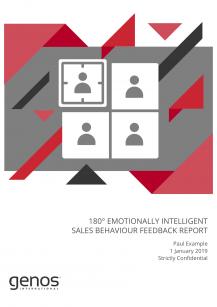 180° EI Sales Behaviour Feedback Report